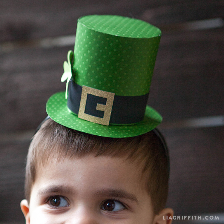 Paper St Patricks Day Top Hat Lia Griffith