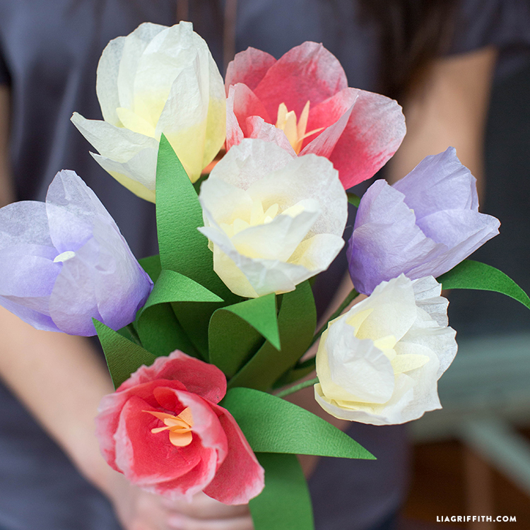 Ombre Tissue Tulips For Spring Lia Griffith