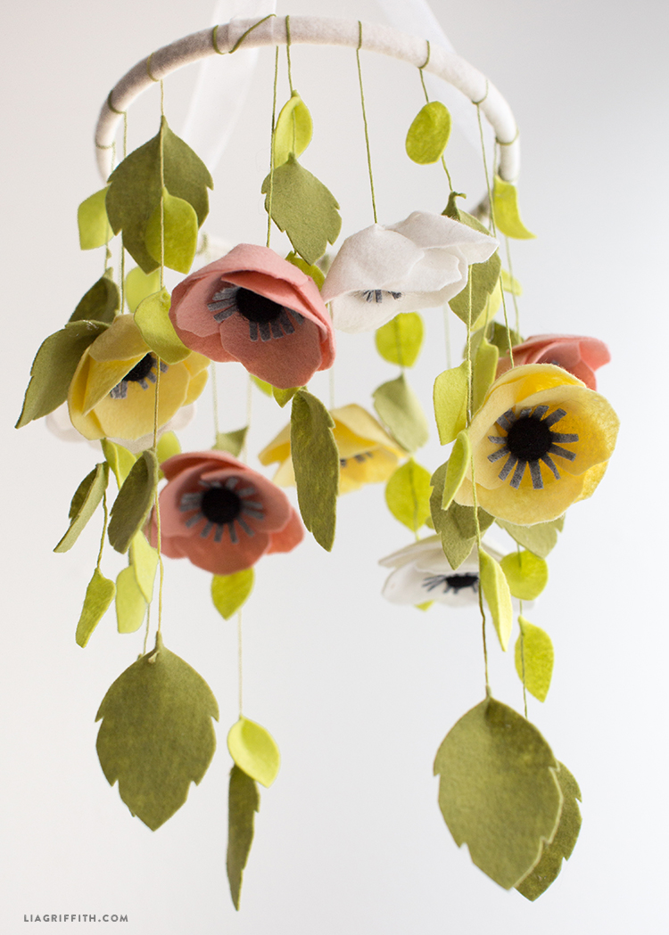 felt flower mobile lia griffith ForDiy Felt Flower Mobile