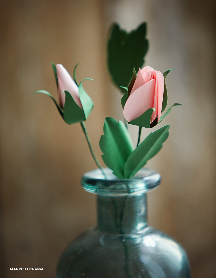 DIY paper rose buds