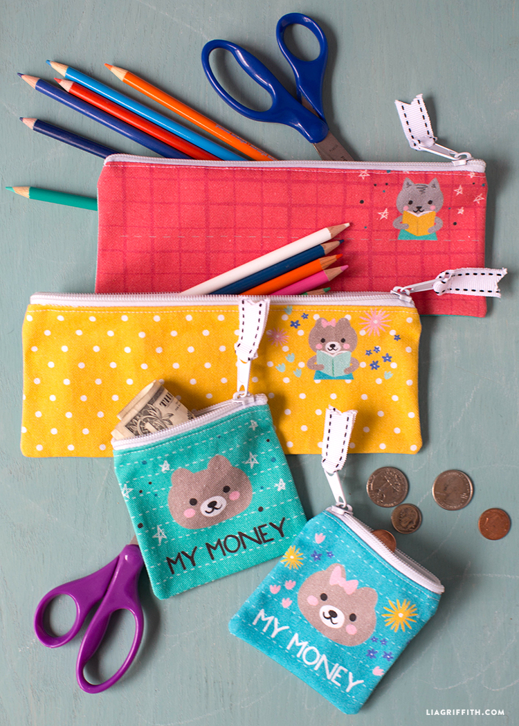 Pencil Pouch and Coin Bag