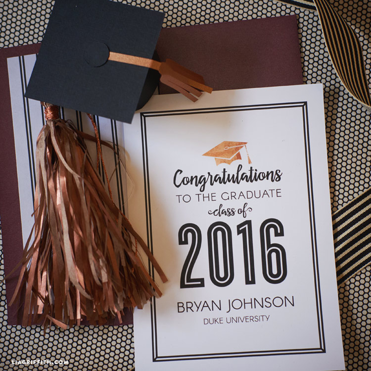 picture regarding Printable Graduation Announcements identified as Printable Commencement Bulletins for 2016 - Lia Griffith