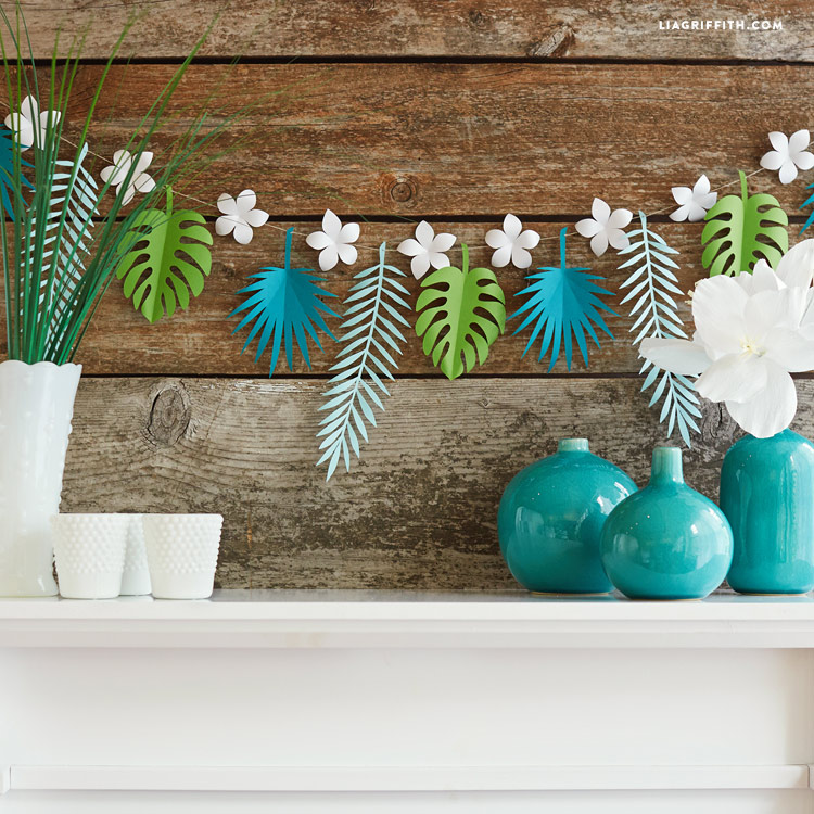 Tropical Leaf Paper Garland Lia Griffith