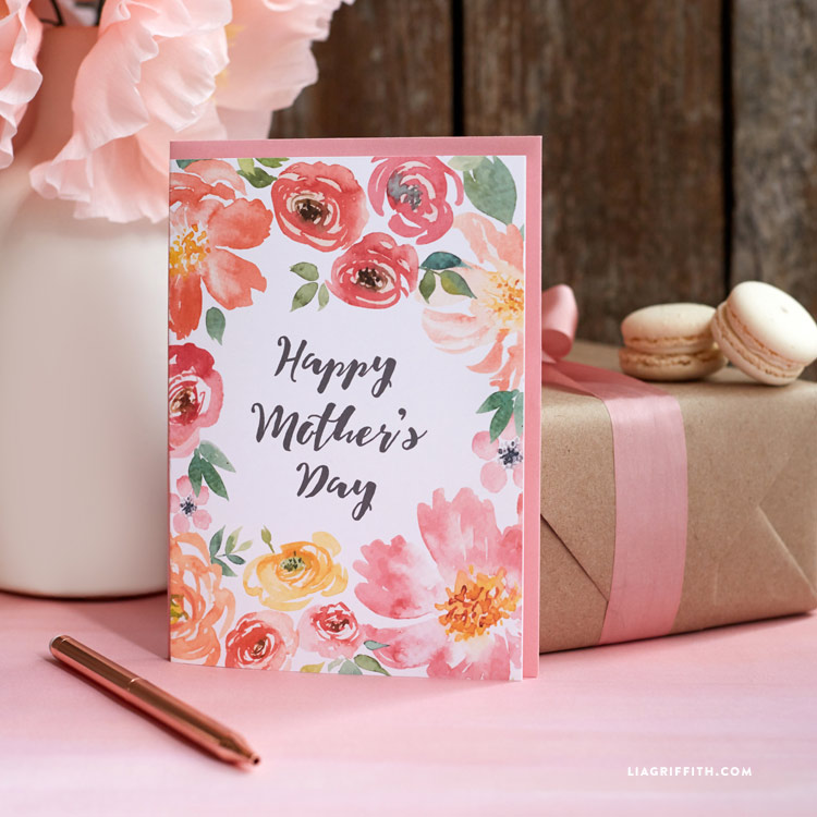 Awe Inspiring Pretty Printable Mothers Day Cards Designed By Lia Griffith Birthday Cards Printable Opercafe Filternl