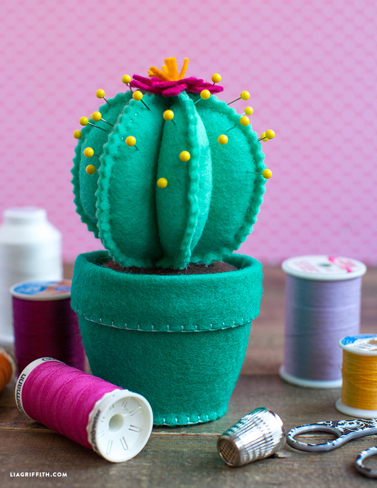 Felt Cactus Pincushion - Lia Griffith