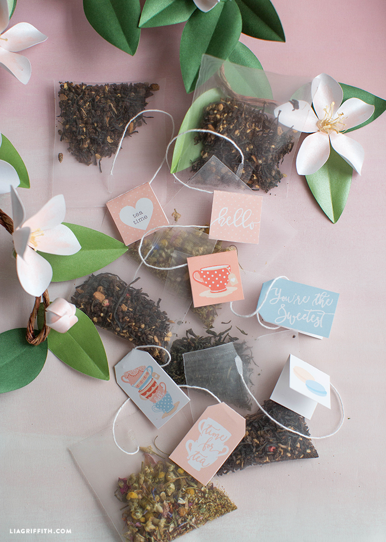 Printable Tea Tags - Lia Griffith