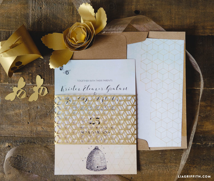 Honey Bee Wedding Invitations Lia Griffith