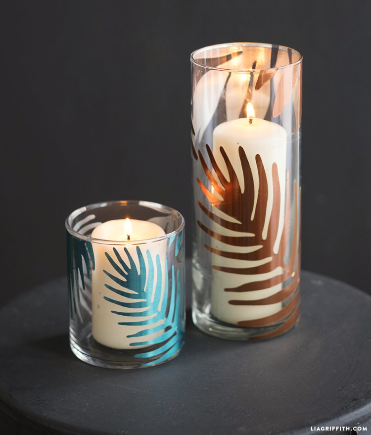 Tropical Candle Votive Decal Lia Griffith