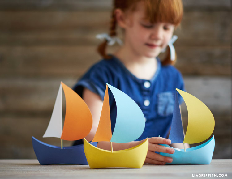 Diy Paper Boat Lia Griffith