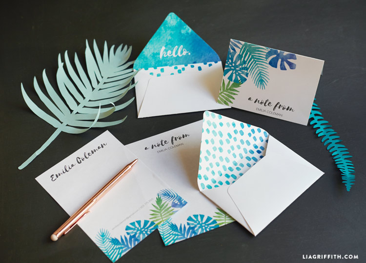 Tropical Stationery Set