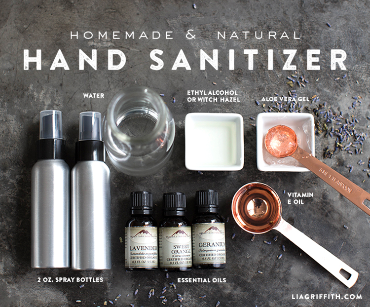 Homemade Hand Sanitizer Ingredients