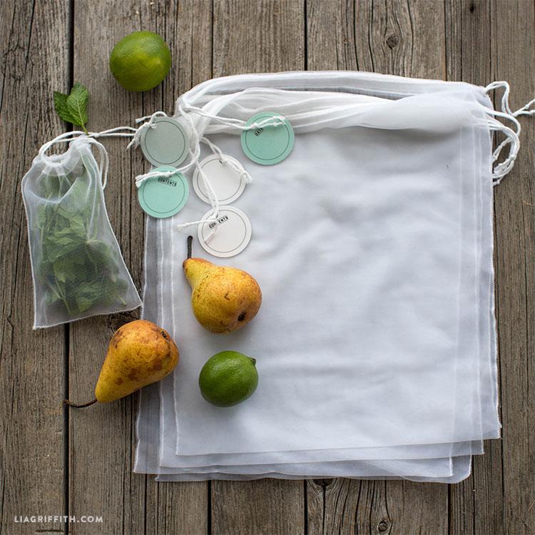 diy tricot reusable bags
