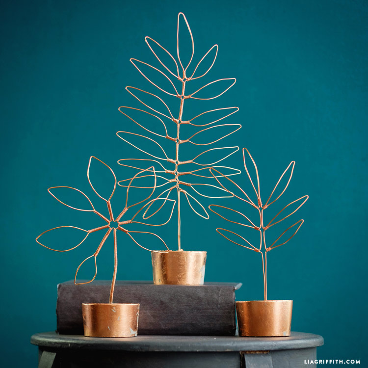 Copper Wire Leaf Decor Lia Griffith