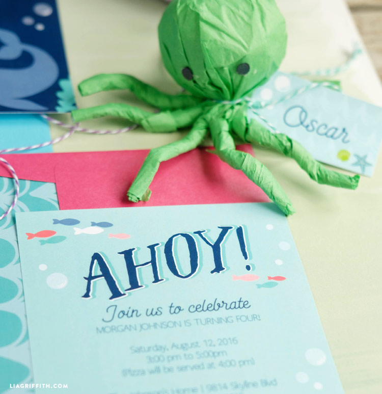 Under the Sea Party Invitations Lia Griffith – Under the Sea Party Invitations