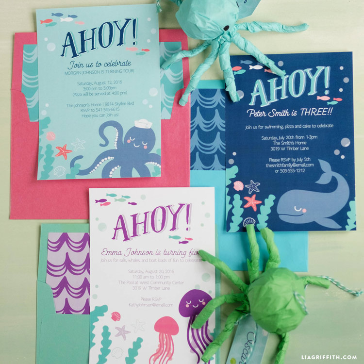 sea_party_invitation_0003 - Under The Sea Party Invitations