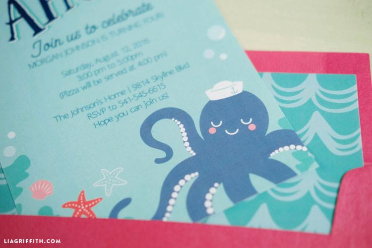 Under the Sea Party Invitations Lia Griffith