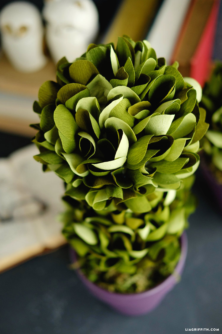 Crepe Paper Boxwood Topiaries Lia Griffith