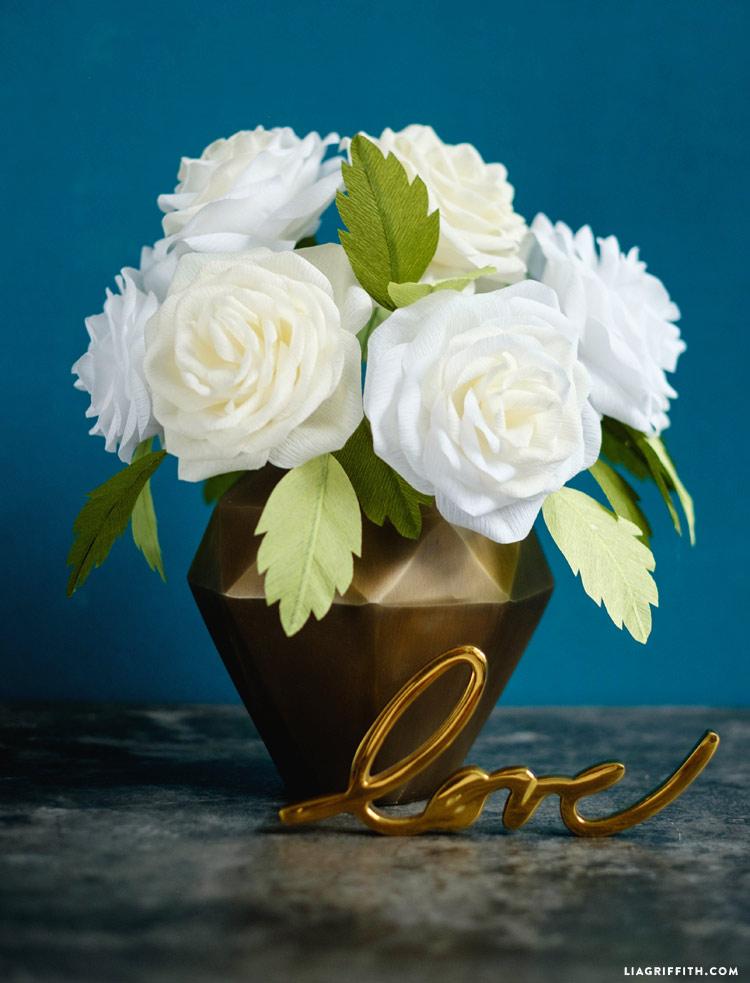 Crepe Paper Garden Roses