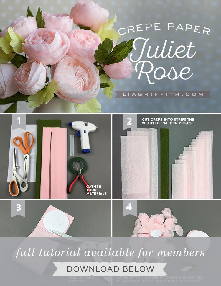 Crepe Paper Juliet Roses Lia Griffith