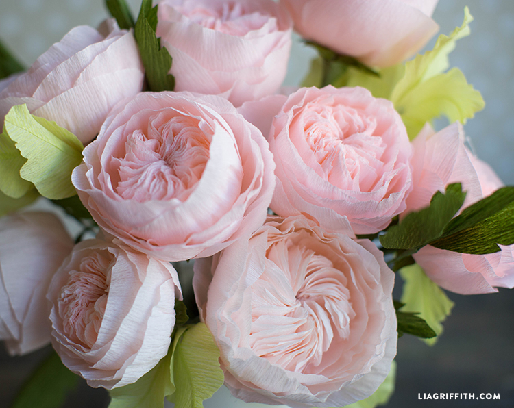 Crepe Paper Juliet Roses
