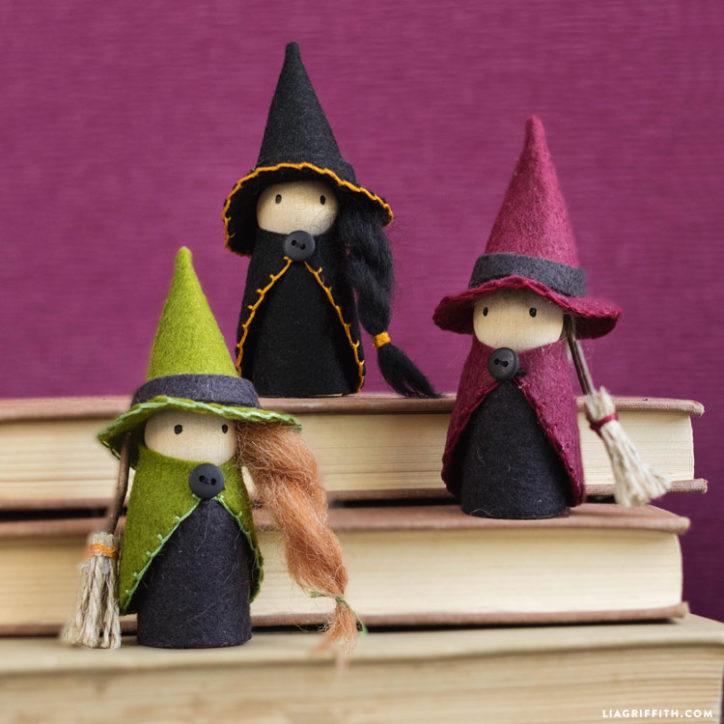 Куколки-ведьмочки из фетра