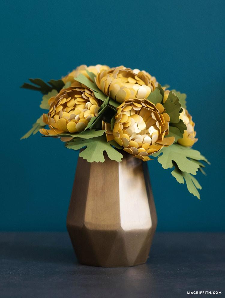 Paper Chrysanthemums