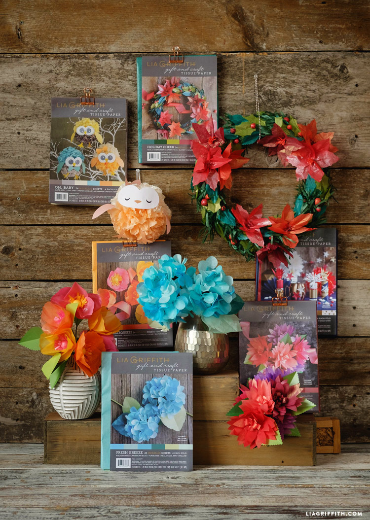 Browse our new tissue paper packs in the shop lia griffith we have loved creating gorgeous specialty papers that we can use for our crepe paper flowers and projects so we decided we shouldnt stop mightylinksfo