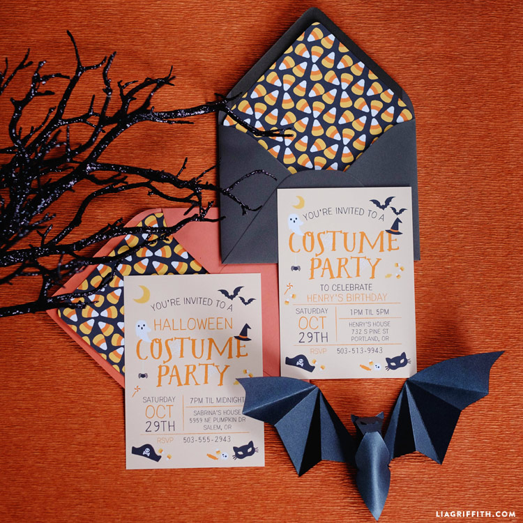 halloween costume party invitations lia griffith