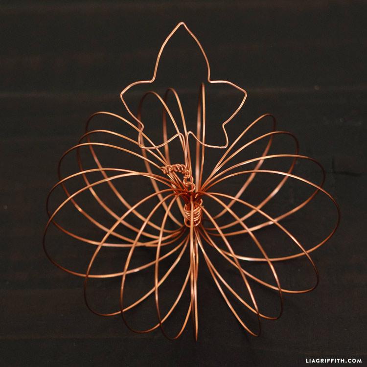 Copper Wire Pumpkins