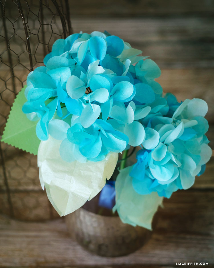 Fresh breeze frosted tissue paper lia griffith diy paper hydrangea mightylinksfo