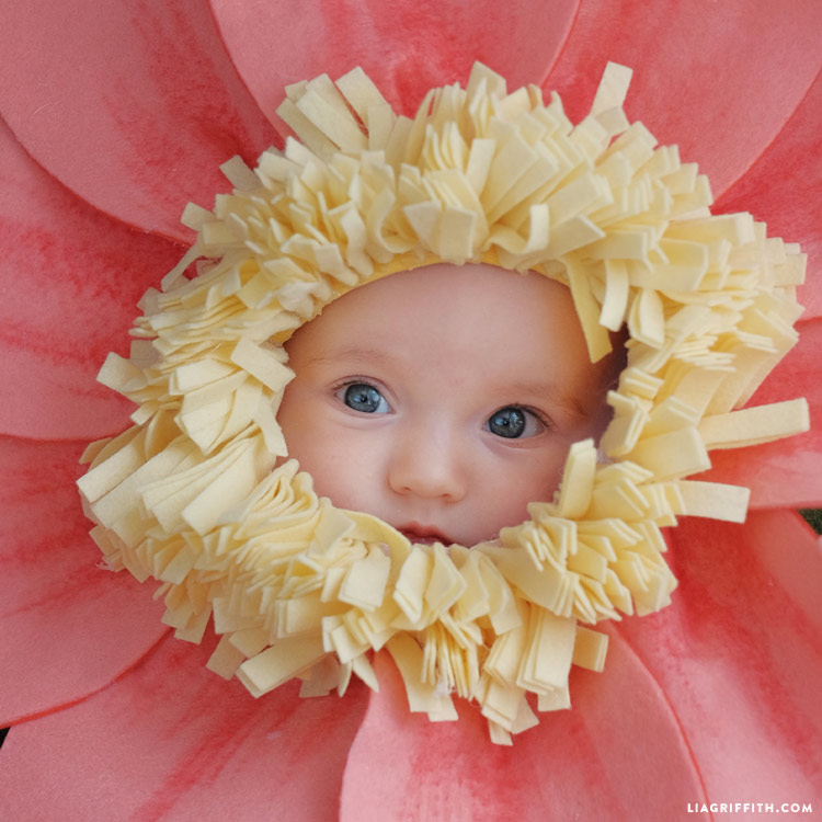 DIY flower baby Halloween costume