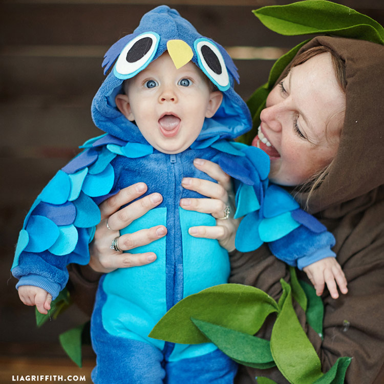 Mom And Baby Boy Halloween Costume Ideas.No Sew Felt Owl Baby Halloween Costume Lia Griffith