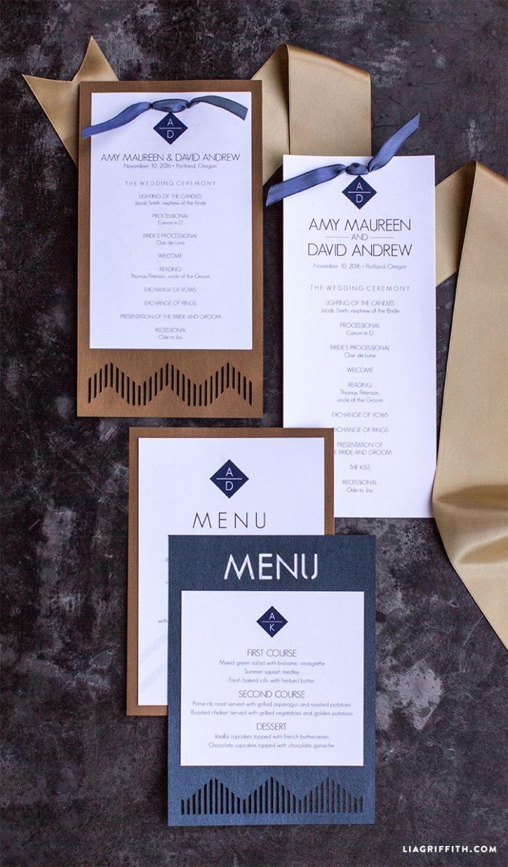 Modern Wedding Paper Goods
