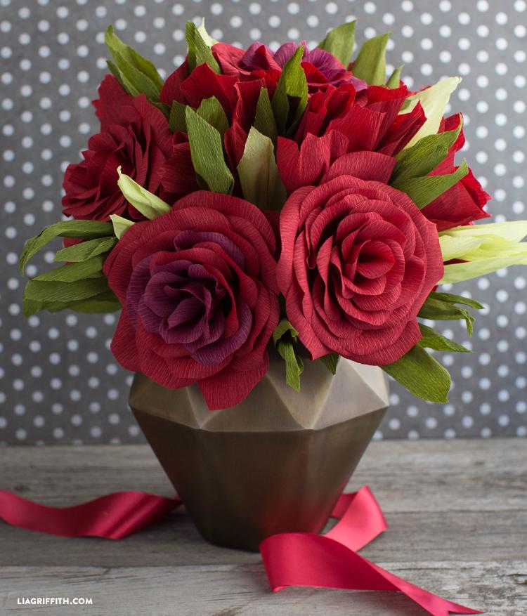 Crepe Paper Garden Roses Lia Griffith