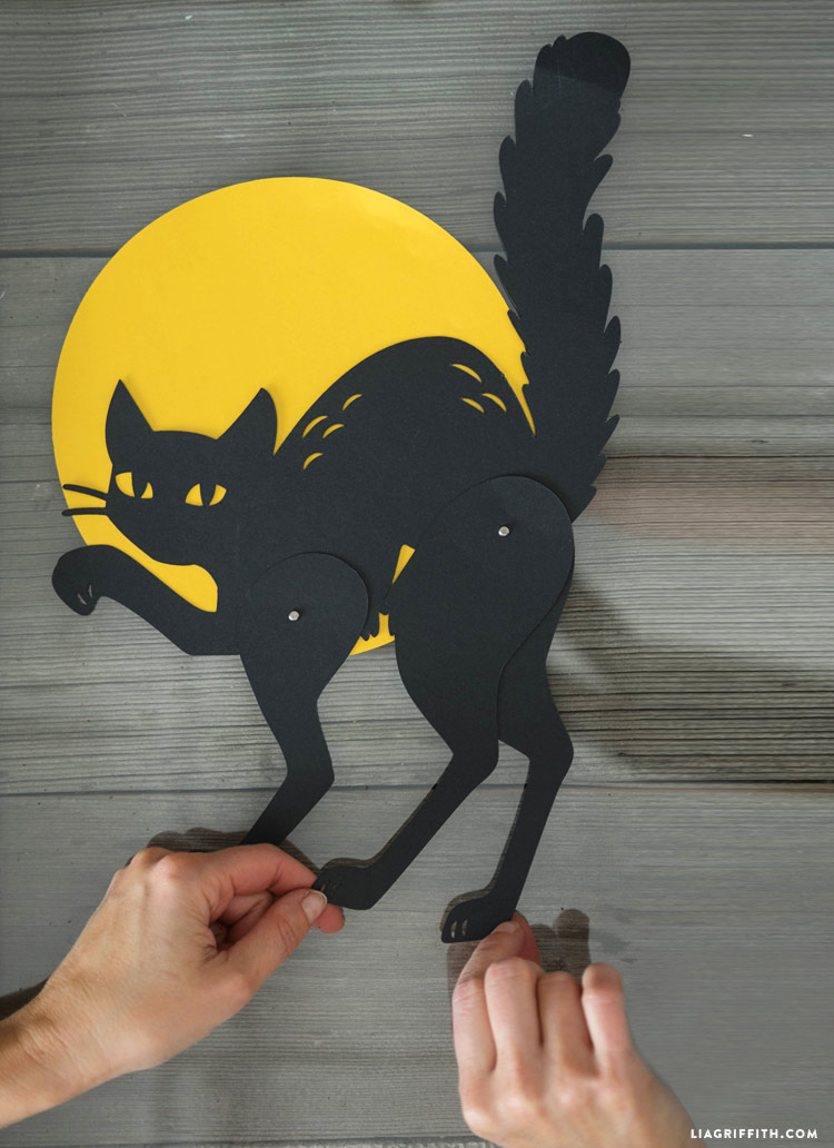 Papercut Black Cat Halloween Decoration - Lia Griffith