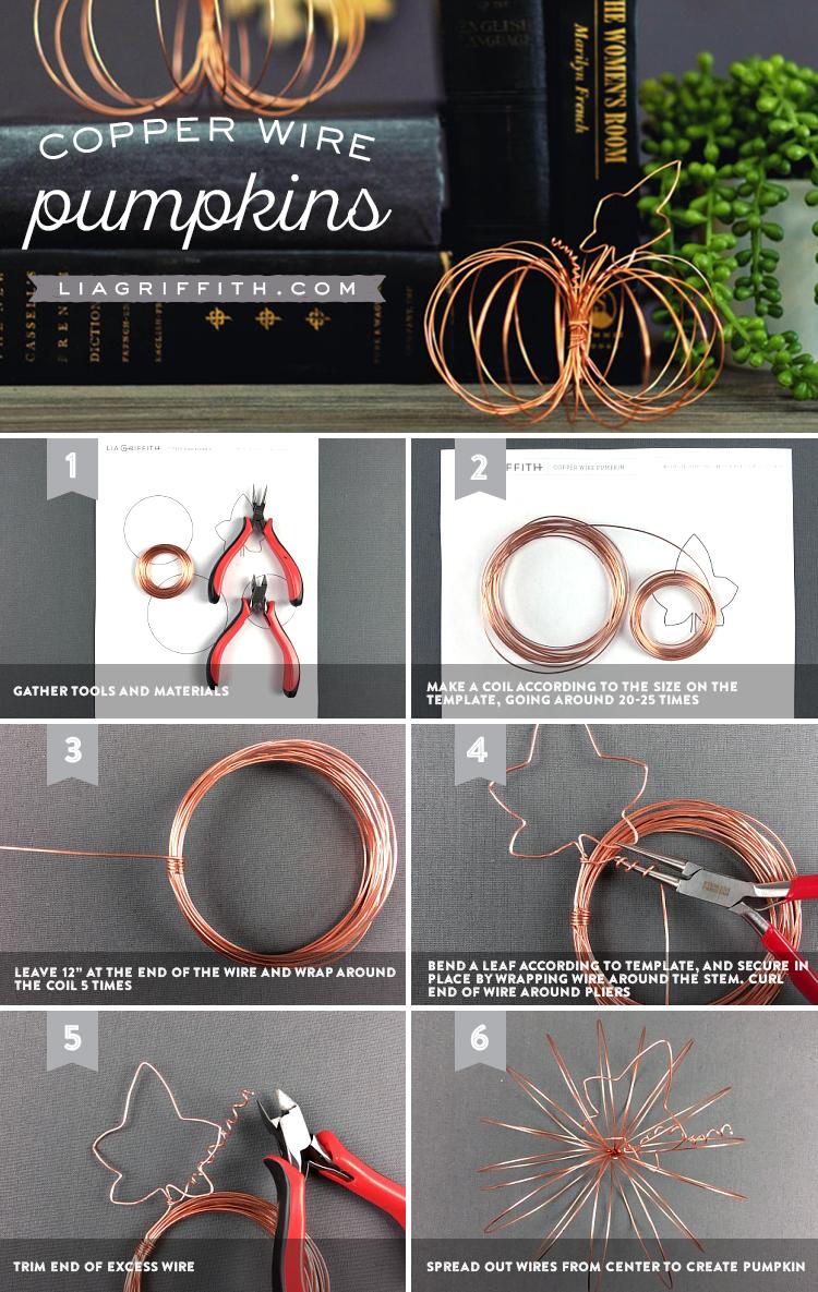 Copper Wire Pumpkins Tutorial