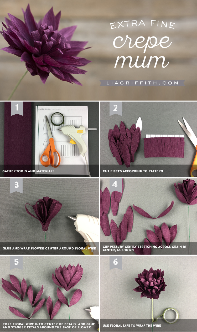 Extra fine crepe paper mums lia griffith crepe paper mums tutorial mightylinksfo