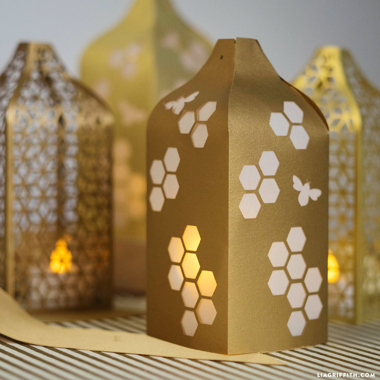 Papercut Honeycomb Lanterns - Lia Griffith