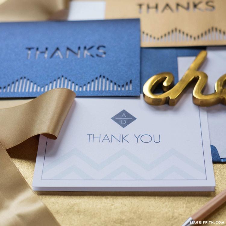 Modern Wedding Thank You Cards