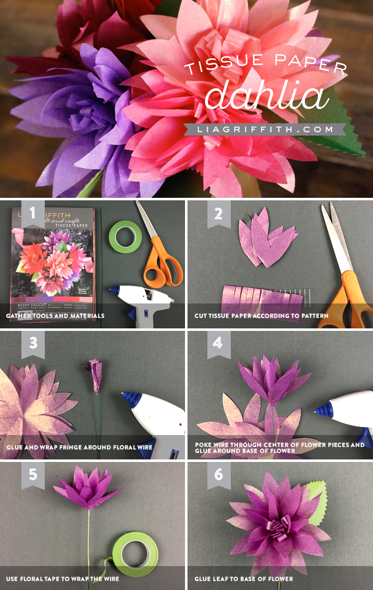 tissue paper flower instructions