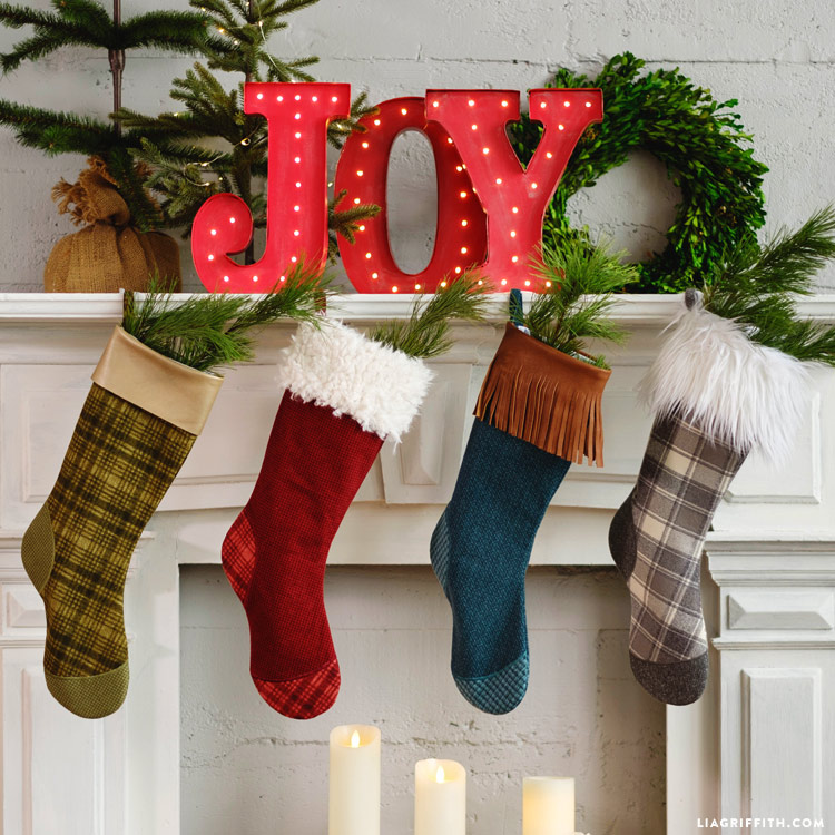 diy christmas stockings - Christmas Decorations To Make With Sewing Machine