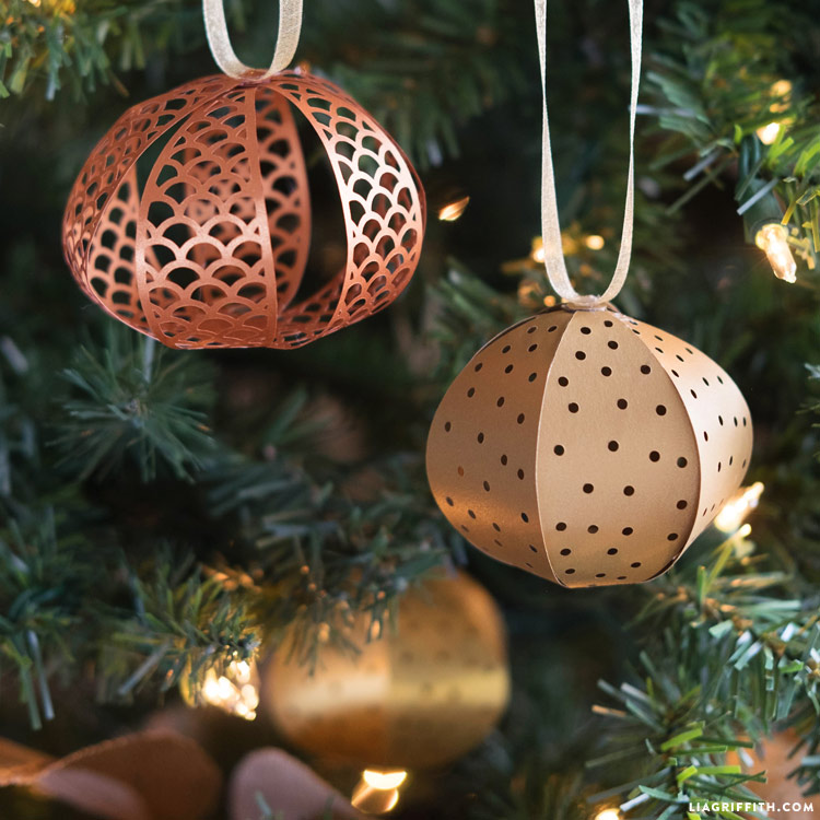 Metallic Papercut DIY Christmas Ornaments Lia Griffith - Diy christmas ornaments