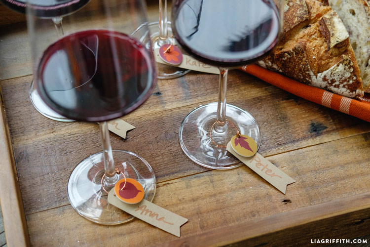 Fall Wine Charms