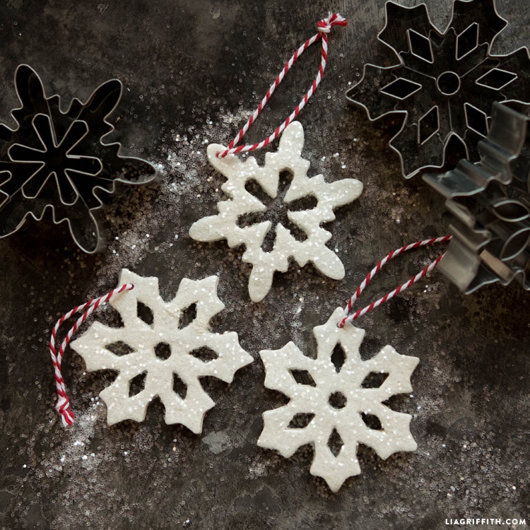 Clay snowflake ornaments lia griffith naturally clay is also a great material for creating diy christmas ornaments these snowflake ornaments are super solutioingenieria Choice Image