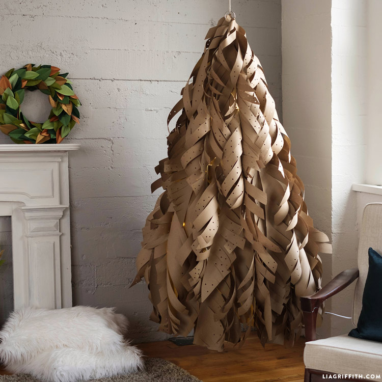 Paper Christmas Tree Paper Christmas Tree Kraft_paper_christmas_tree_0010