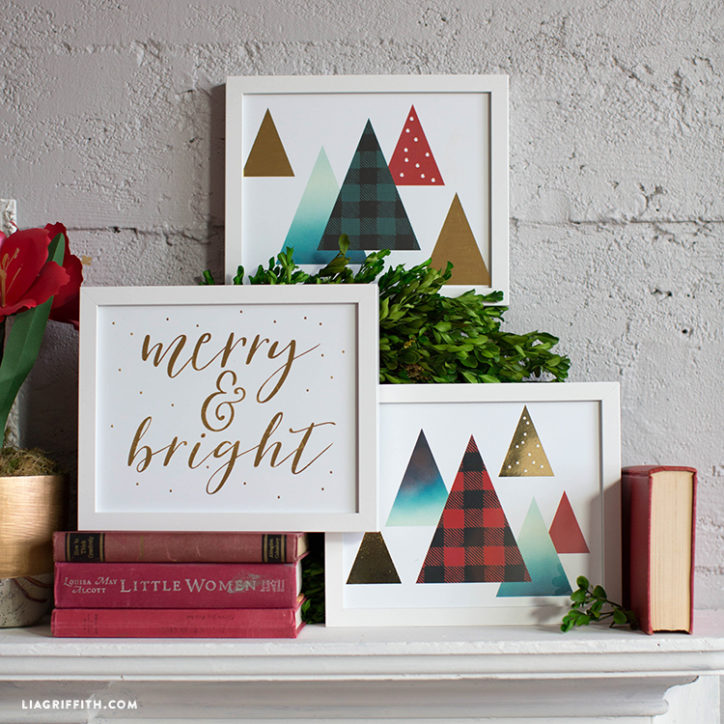 prints1 - Christmas Wall Art Decor