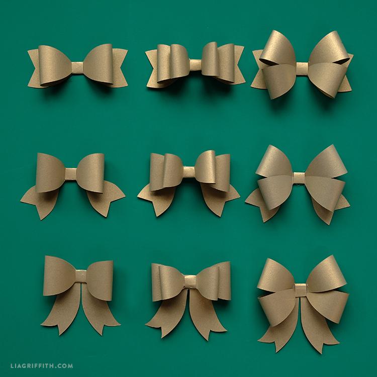 Mix Match Paper Bows