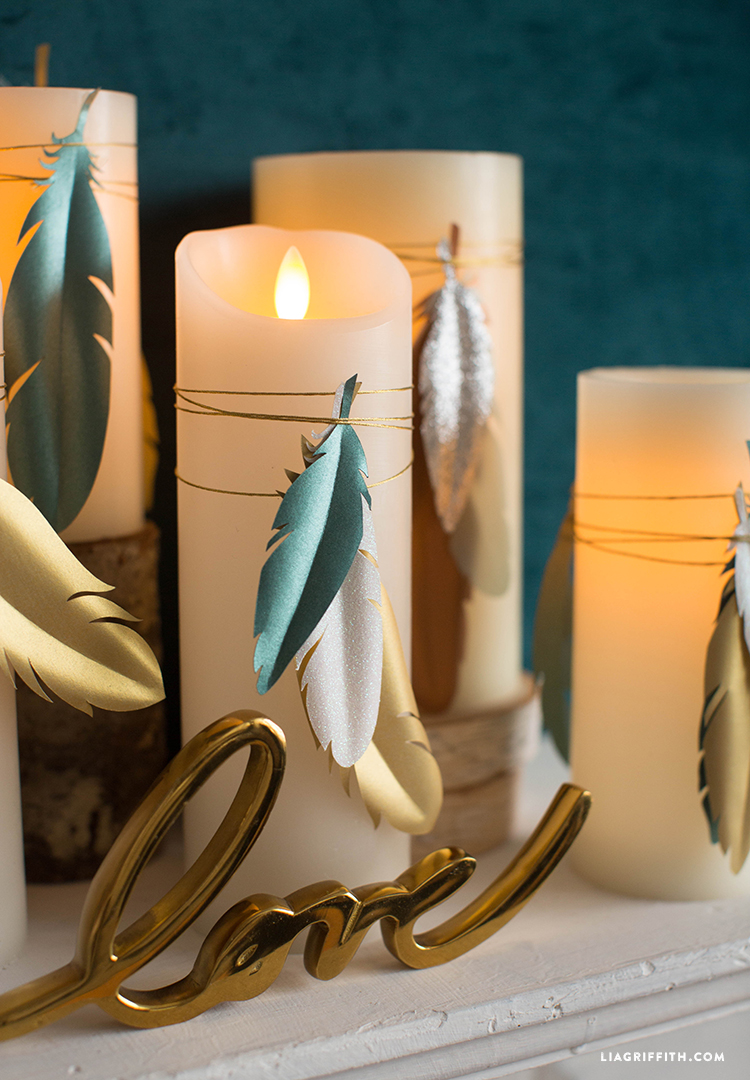 Paper Feather Candles