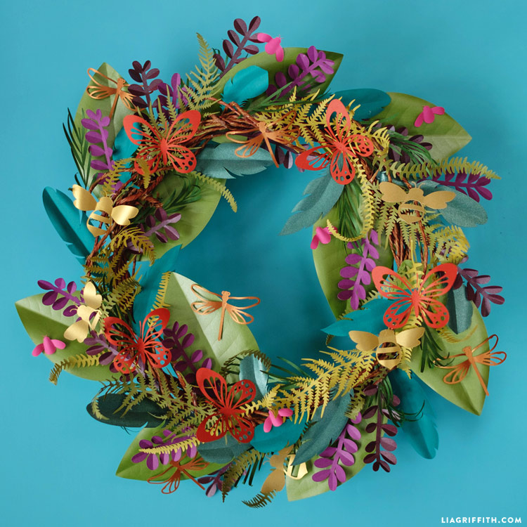 Boho Botanical Paper Wreath