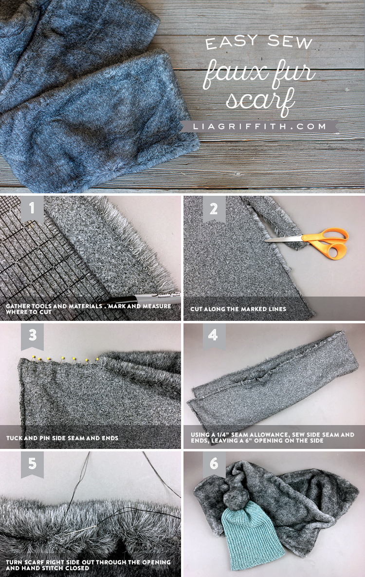 Faux Fur Scarf Tutorial